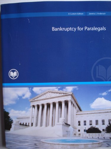 9780558869861: Bankruptcy for Paralegals: A Custom Edition