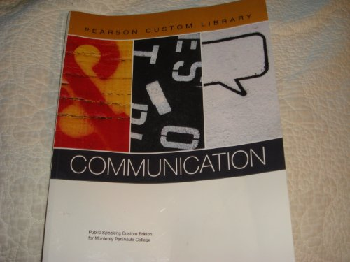 9780558903848: Pearson Custom Library, Communication, Monterey Peninsula College