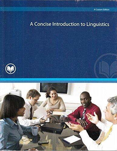 9780558920555: CONCISE INTRO TO LINGUISTICS (CUSTOM)