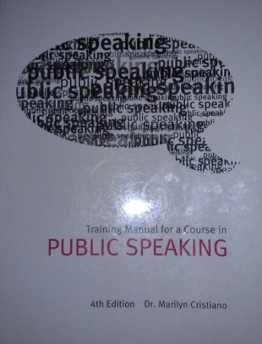 9780558921279: Training Manual for a Course in Public Speaking