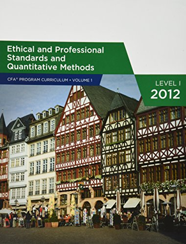 Ethical and Professional Standards and Quantitative Methods: unknown