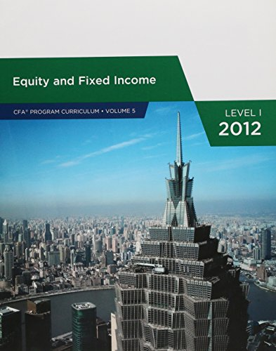 9780558925017: Equity and Fixed Income (CFA PROGRAM CURRICULUM, VOLUME 5)