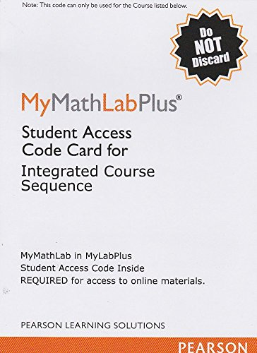 9780558927233: MyMathLab Plus: Student Access Code Card for Intergrated Course Sequence