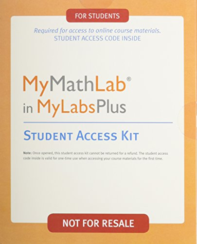 Mymathlab in Mylabsplus, Student Access Kit: Pearson