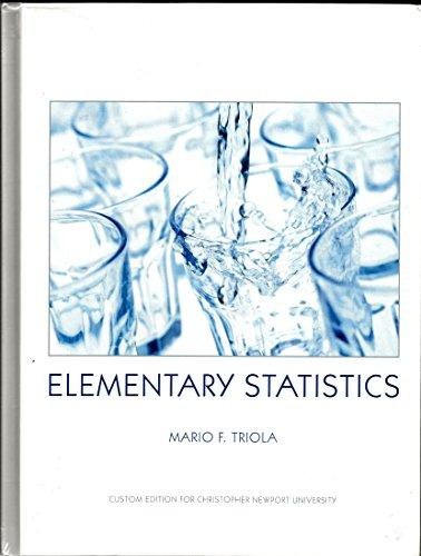 9780558964368: Elementary Statistics Custom Edition for Christopher Newport U (Custom Edition for CNU)
