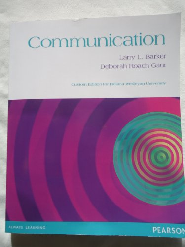 Communication: Deborah Roach Gaut;
