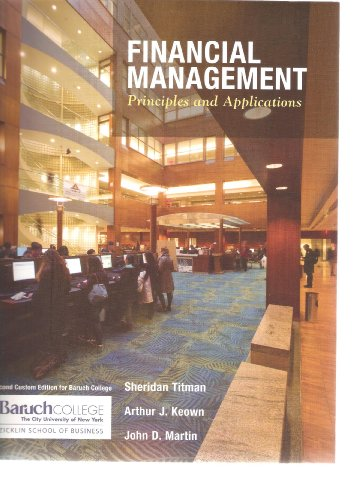 9780558988470: Financial Management Principles and Applications