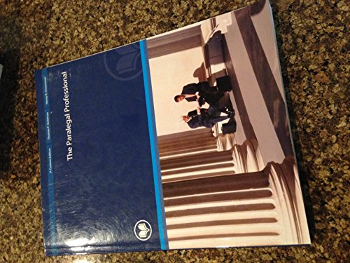 9780558996598: The Paralegal Professional Custom Addition