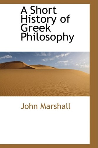 9780559071706: A Short History of Greek Philosophy