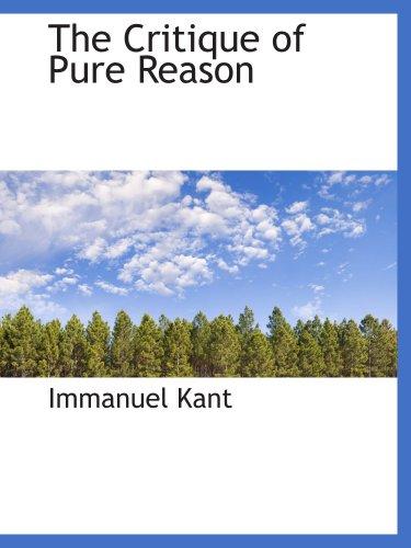 9780559078880: The Critique of Pure Reason