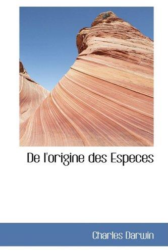 9780559088803: De l'origine des Especes (French Edition)