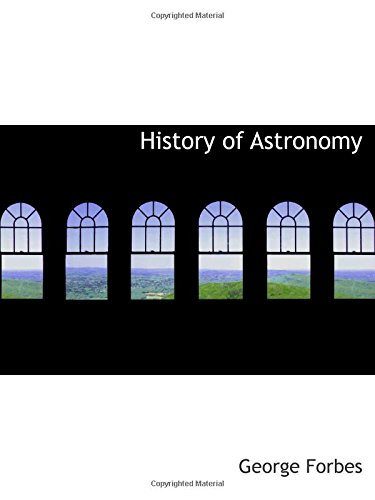 9780559101335: History of Astronomy