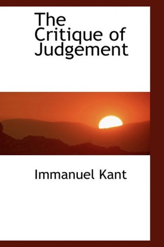 9780559105685: The Critique of Judgement