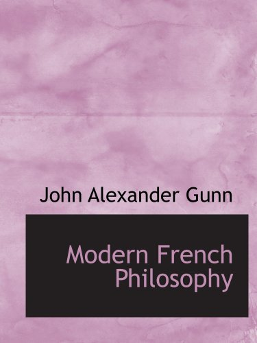 9780559114656: Modern French Philosophy