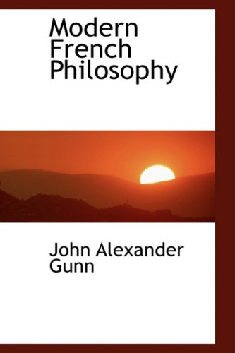 9780559114694: Modern French Philosophy