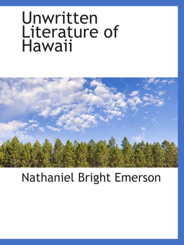 9780559128400: Unwritten Literature of Hawaii