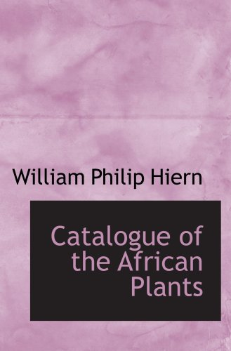 9780559163319: Catalogue of the African Plants