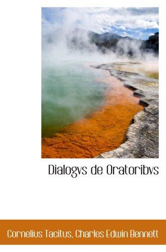 9780559174858: Dialogvs de Oratoribvs