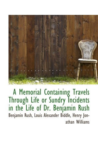 9780559175152: A Memorial Containing Travels Through Life or Sundry Incidents in the Life of Dr. Benjamin Rush