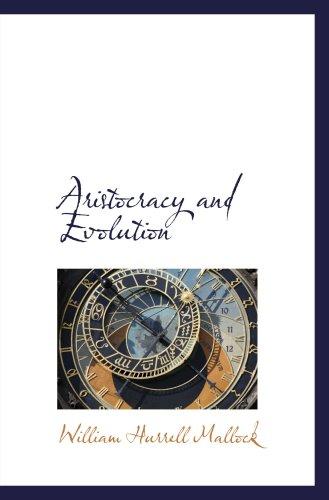 9780559179020: Aristocracy and Evolution