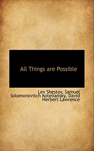 9780559212611: All Things are Possible