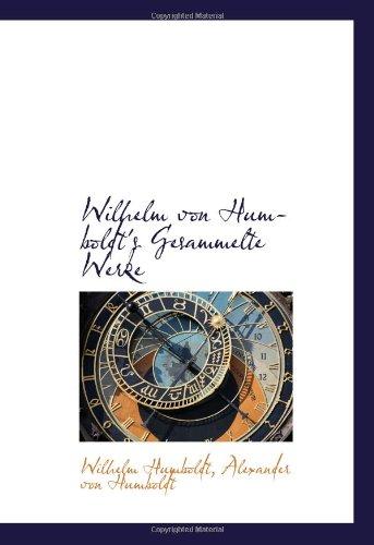 9780559301803: Wilhelm von Humboldt's Gesammelte Werke
