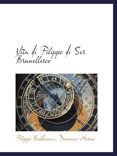 9780559343285: Vita di Filippo di Ser Brunellesco
