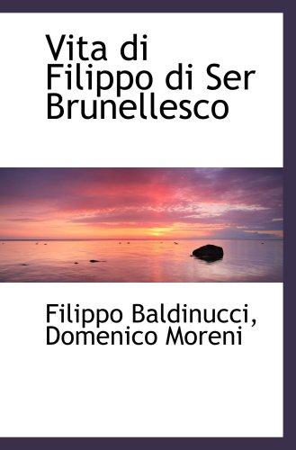 9780559343292: Vita di Filippo di Ser Brunellesco