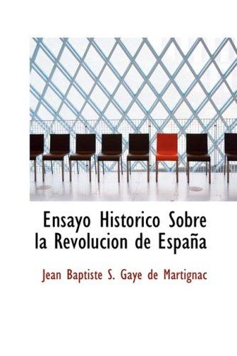 9780559348396: Ensayo Historico Sobre la Revolucion de Espana