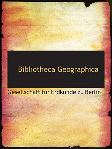 9780559463006: Bibliotheca Geographica