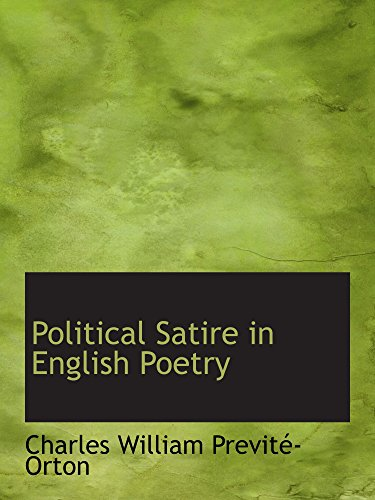 9780559510687 Political Satire In English Poetry Abebooks