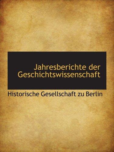 9780559523199: Jahresberichte der Geschichtswissenschaft
