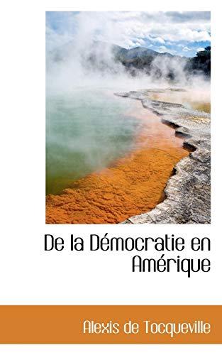 9780559548321: De la Démocratie en Amérique (French Edition)