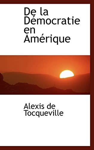 9780559548345: de La D Mocratie En Am Rique (Bibliobazaar Reproduction) (French Edition)