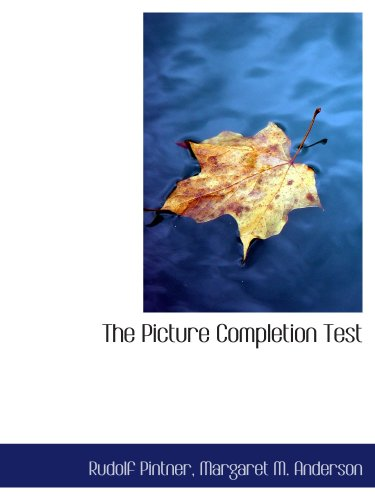 9780559555657: The Picture Completion Test