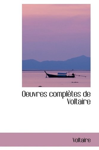 9780559565946: Oeuvres Completes de Voltaire (French Edition)