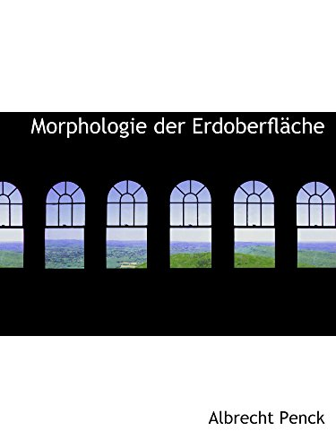 9780559577529: Morphologie der Erdoberfläche (German Edition)