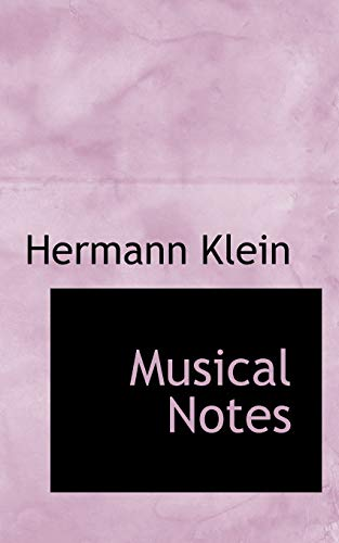9780559592003: Musical Notes