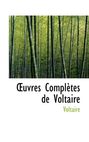 9780559621963: Uvres Completes de Voltaire (French Edition)