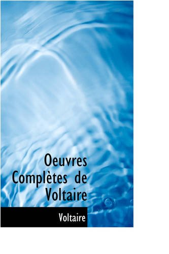 9780559711558: Oeuvres Completes de Voltaire