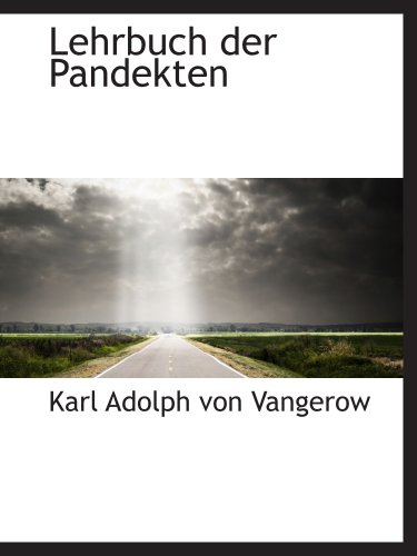 9780559745256: Lehrbuch der Pandekten
