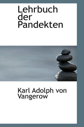 9780559745348: Lehrbuch Der Pandekten