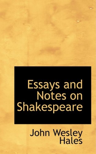 9780559753190: Essays and Notes on Shakespeare