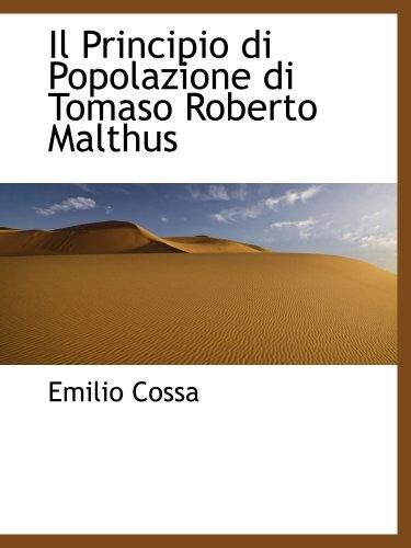 9780559758058: Il Principio di Popolazione di Tomaso Roberto Malthus