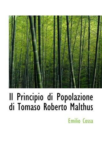 9780559758089: Il Principio di Popolazione di Tomaso Roberto Malthus