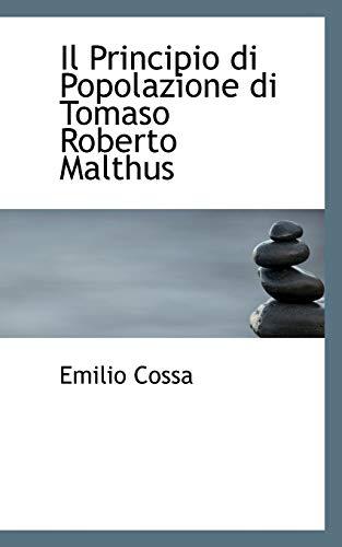9780559758102: Il Principio Di Popolazione Di Tomaso Roberto Malthus