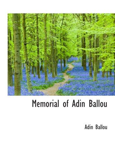 9780559847844: Memorial of Adin Ballou