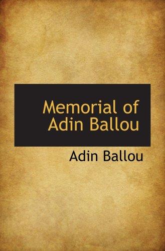 9780559847868: Memorial of Adin Ballou
