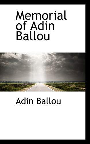 9780559847882: Memorial of Adin Ballou