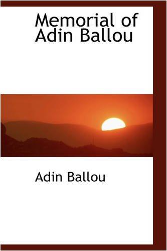 9780559847905: Memorial of Adin Ballou